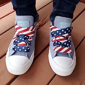 american flag shoelaces