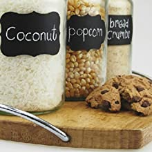 Chalkboard Labels Stickers Bundle for Organizing Labeling Jars Bottles Food Containers Tupperware
