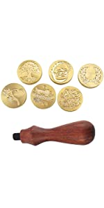 Wax Seal Stamp Set with 6 Different Stamp Heads
