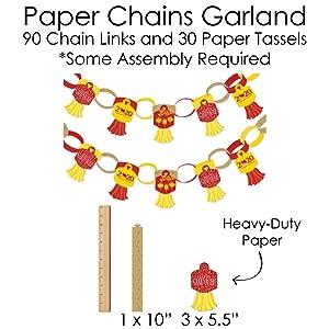 Chinese New Year Paper Chain Garland