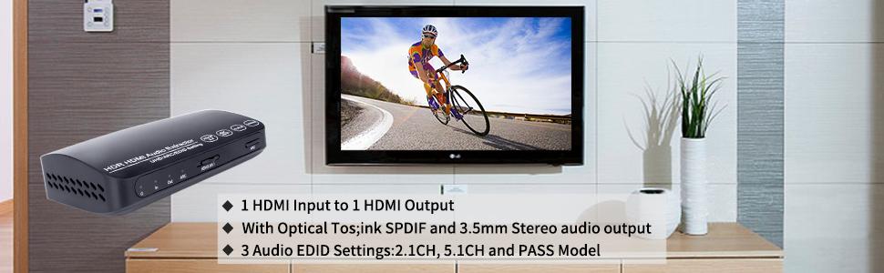 HDMI 1 input 1 output