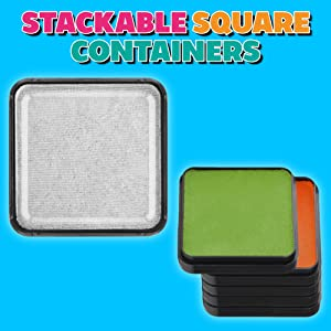 Stackable square containers