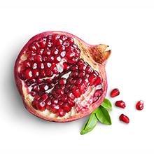 pomegranate antioxidants healthy shine hair