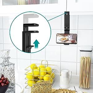 Phone Holder for Kitchen Cabinet