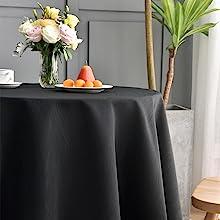 黑色圆桌布次场景