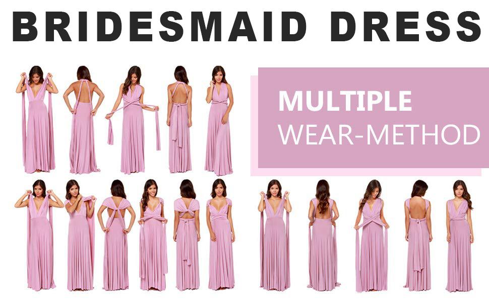 elegant infinity multi-way wrap long maxi dress