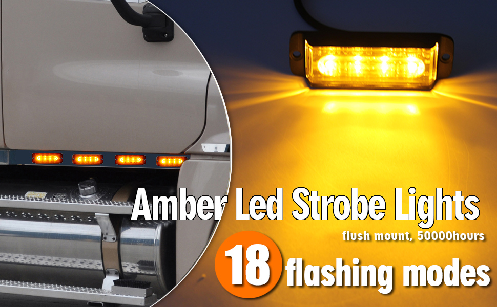 amber led strobe lights 4 led