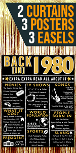 1980 1979 40th Birthday Posters Gold for women for her back in 1980 count down cheers to 40 years