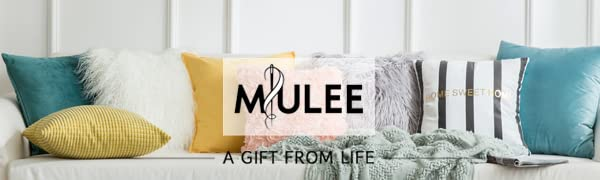 miulee home decor throw pillow cover faux fur pillows velvet