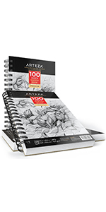 ARTZ-8081_Sketch_Book_Pad_Spiral_Sketchbook_Art_Drawing_Paper_5.5X8.5