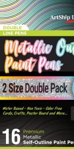 Acrylic paint Pens, Rock Painting, Paint Pens for Rocks, Wine Glass Painting, Mug Painting, Metallic