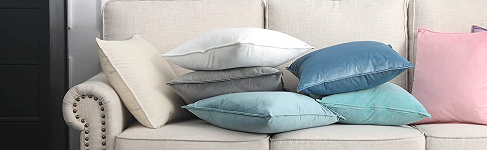 2 pack set accent cushion cover for sofa bedroom car luxurious