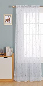 rod pocket white sheer curtains for living room bedroom sheers voile