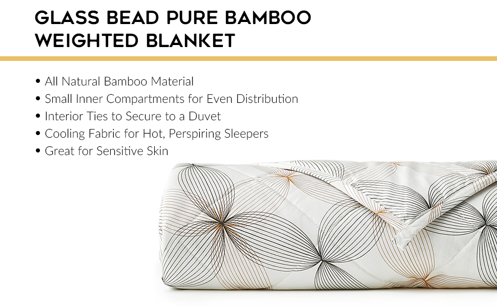 glass bead bamboo weighted blanket