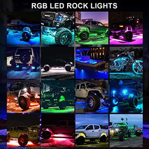 rgb led rock lights atv