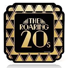 Roaring 20's Foil Dinner Plate