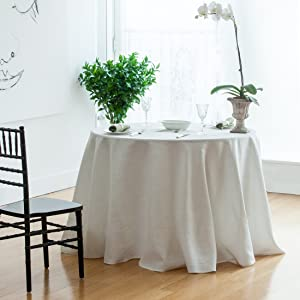 Huddleson Pure Linen Tablecloth Luxurious Drape
