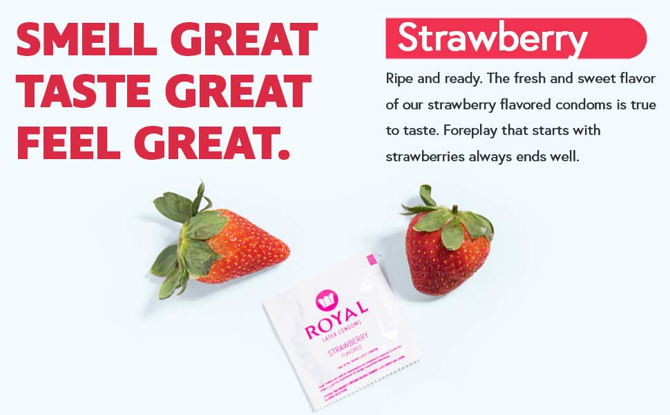 Royal Strawberry Condoms