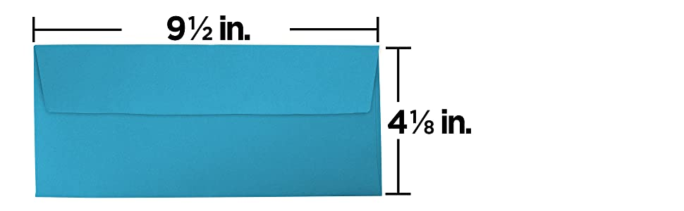 blue #10 business colored envelope