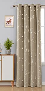 khaki blackout curtains