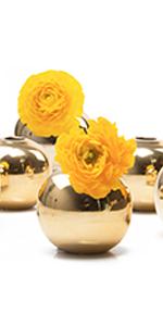 Chive Jojo Sphere Gold Bud Vase