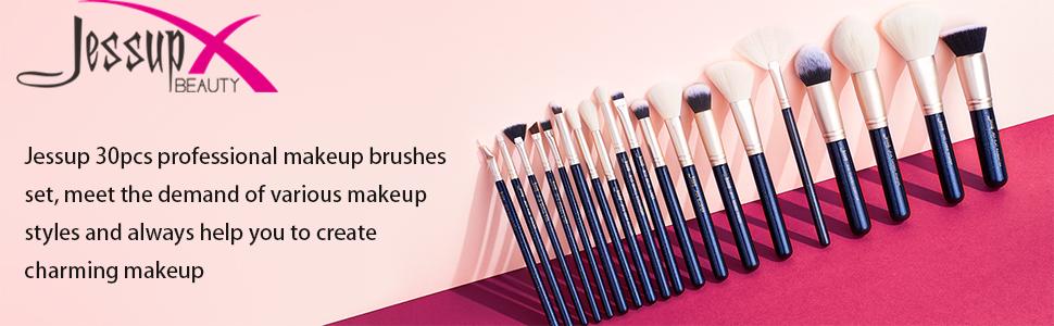 Jessup professional makeup brushes