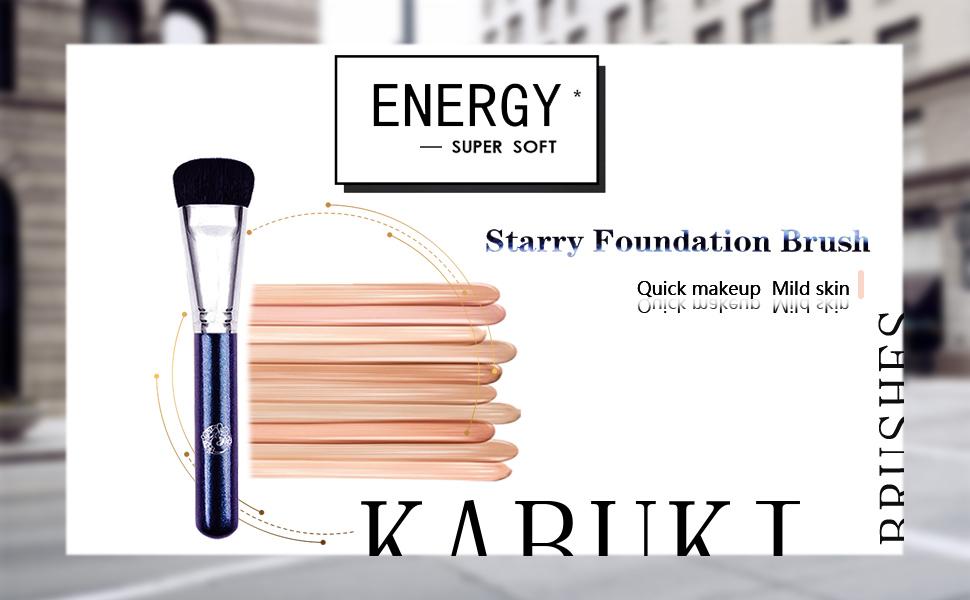 ENERGY Flat Kabuki Foundation Makeup Brush