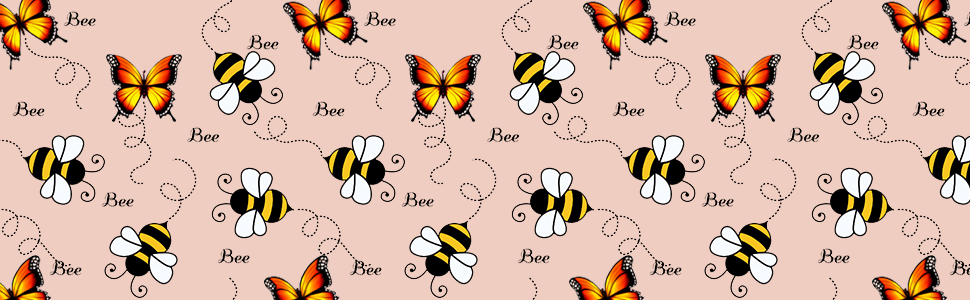 bees & butterfly
