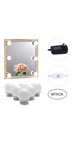 Makeup Mirror Vanity LED Light Bulbs Kit