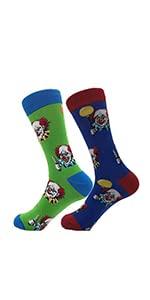 TOSKIP Men's Funny Dress Novelty Sock Cotton Socks 2 Pair or 3 Pairs 7-12 for Women
