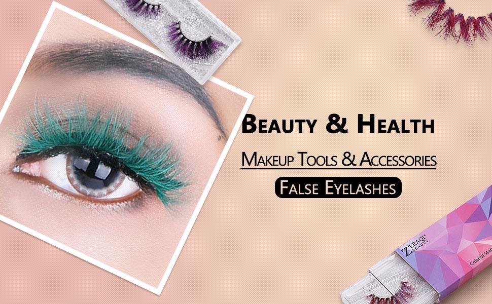 Colorful  False Eyelashes Voluminous Thick Long