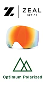 polarized snow goggle replacement lens