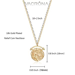 Relief Coin Necklace