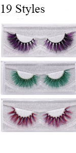 Halloween 3D Mink Color Lashes