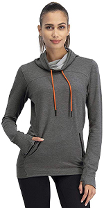 long sleeves Top women workout dry fit pants leightweight hoodie sweater