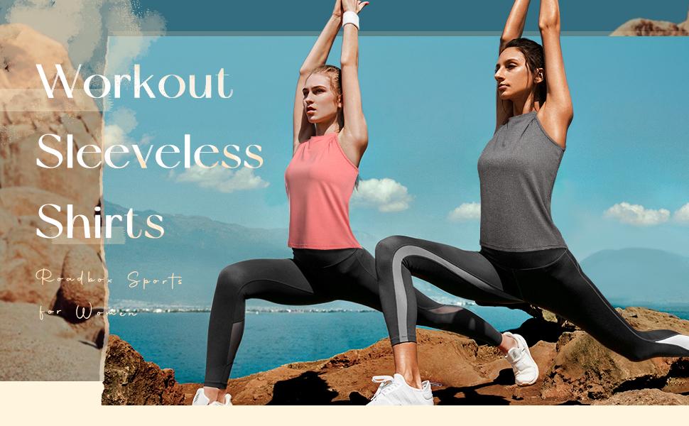 Workout sleeveless shirts for women