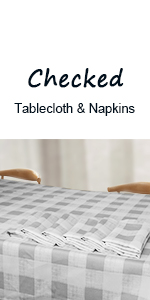 VCVCOO Checked Tablecloth