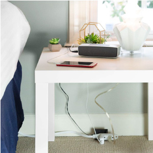 16/3 White Extension Cord, 3-in-1 Outlet