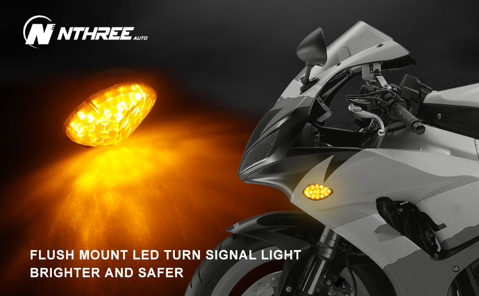 Flush Mount LED Turn Signal Lights honda cbr600rr CBR1000RR F4i 12V motorcycle indicators