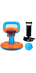 Swimming Pool Basketball Hoop Bonus 1 Balls and Pump