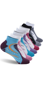 Women's Cushion Ankle Low Cut Athletic Hiking Socks