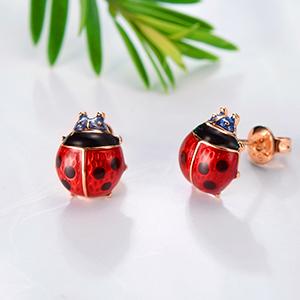 Red Lady bugStud Earrings