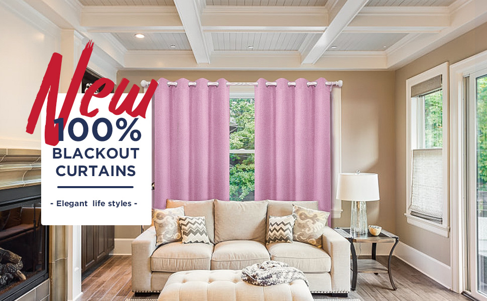 100% blackout curtains elegant faux lined look