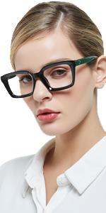 stylish black reading glasses for women square readers