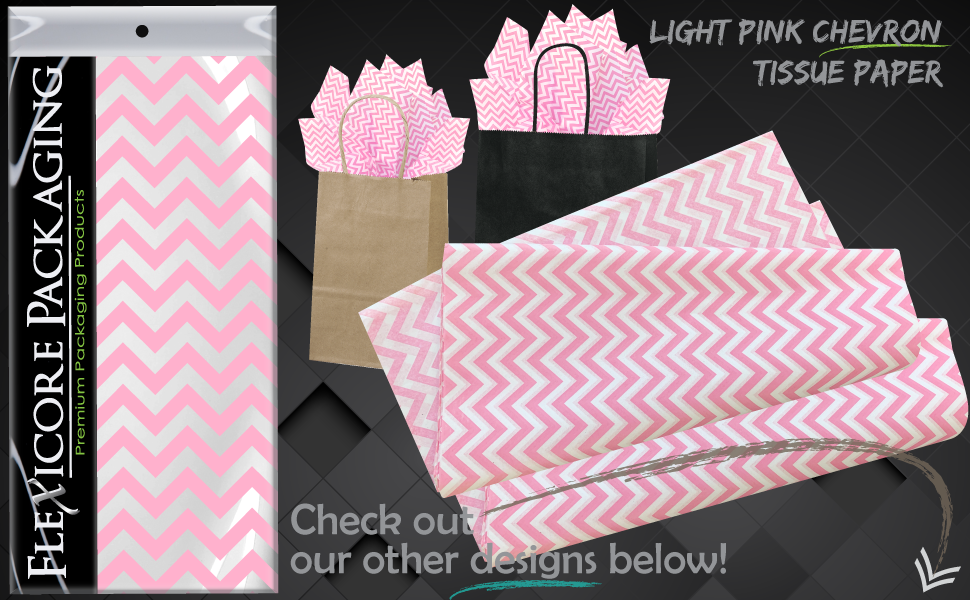light pink zig zag soft blush gift wrap paper tissue sheets art diy craft tassel garland pom pom