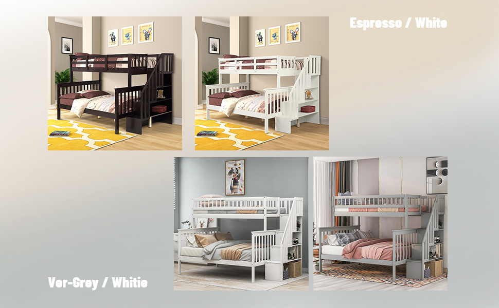 grey twin over full bunk bed twin over full bunk bed for kids wood white