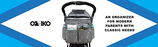 Ozziko stroller organizer bag for parents