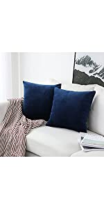 UGASA Pack of 2, Soft Decorative Velvet Throw Pillow Covers 18 x 18 Inches