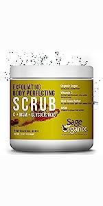 Sage Organic Facial Scrub Organic Natural Microdermabrasion Deep Cleanse Exfoliate Acne Blackhead