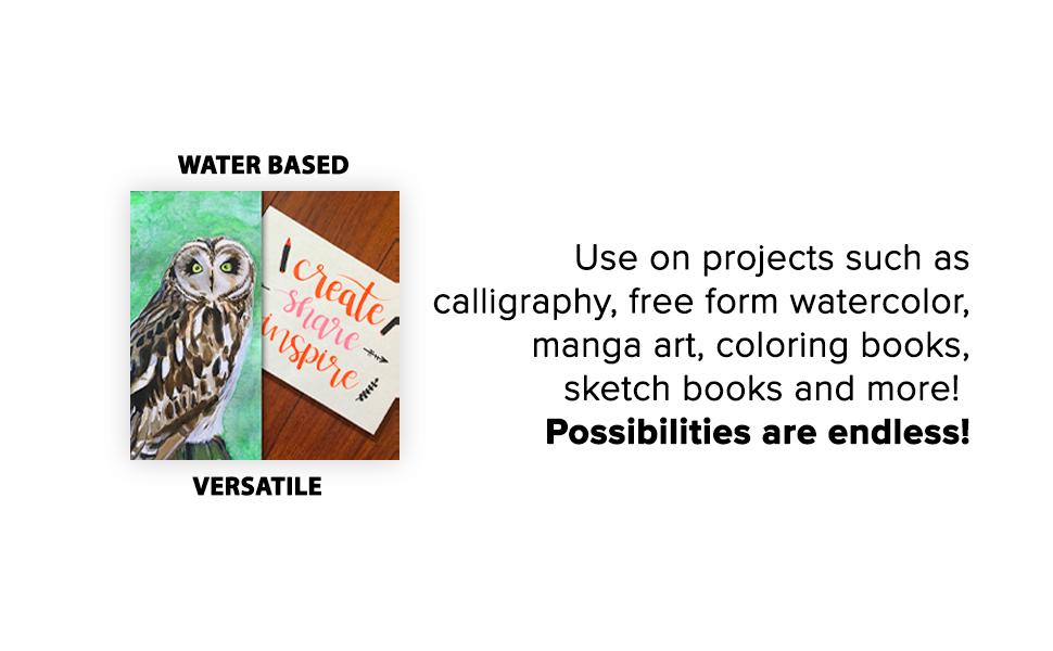 Water Based pens, Versatile Endless possibilities